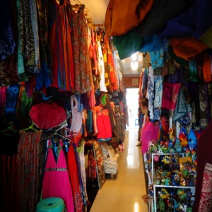 Local clothes market in Ubud