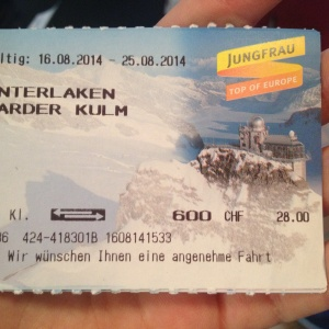 ticket funicular Interlaken