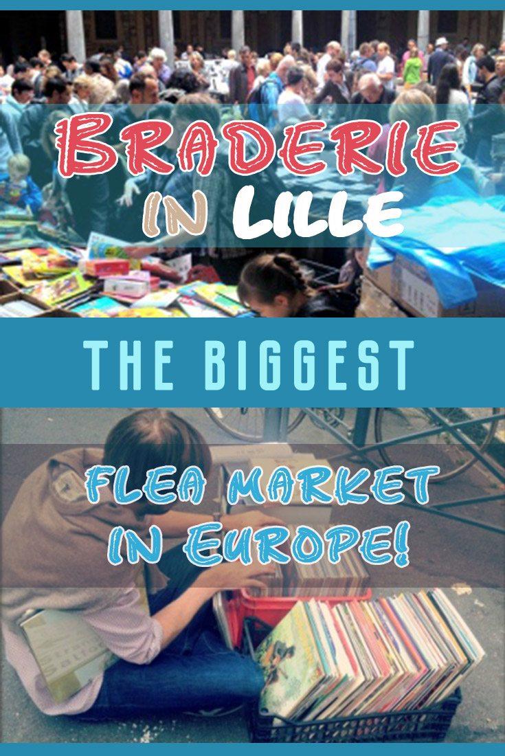 Braderie in Lille – the biggest flea market in Europe France Misstouristcom