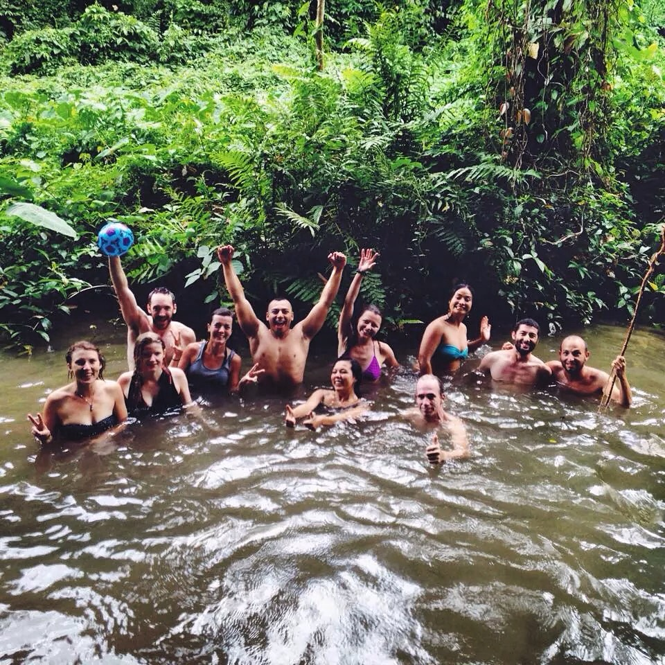 Lake buaton waterfall