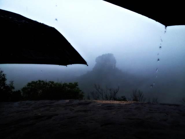 Pidurangala sigiriya view rain