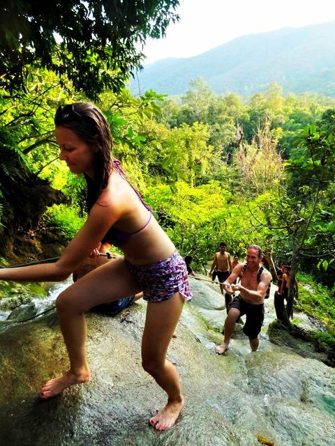 Sticky waterfalls Chiang mai