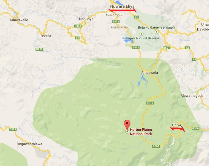 map Horton plains