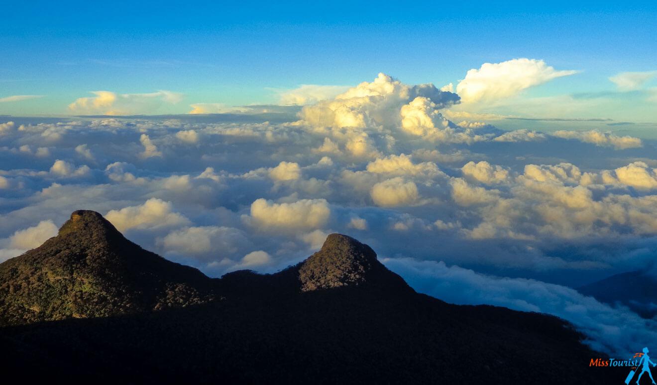 Awesome view from adams peak sri lanka