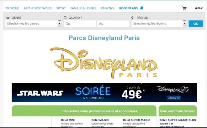 Cheap tickets to Disneyland Paris buy online