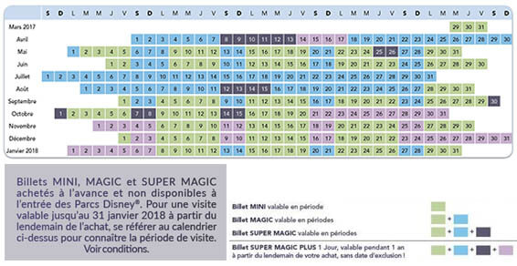 disney-calendrier paris