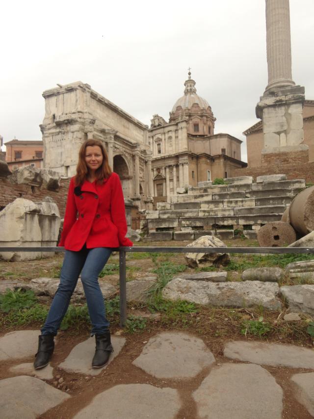 foro romano rome italy ruins