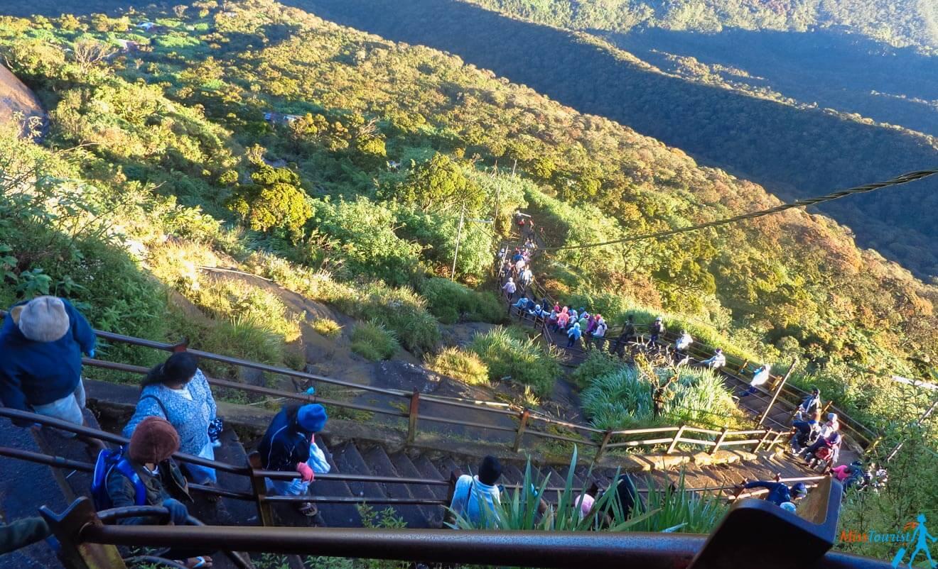 stairs climb adams peak