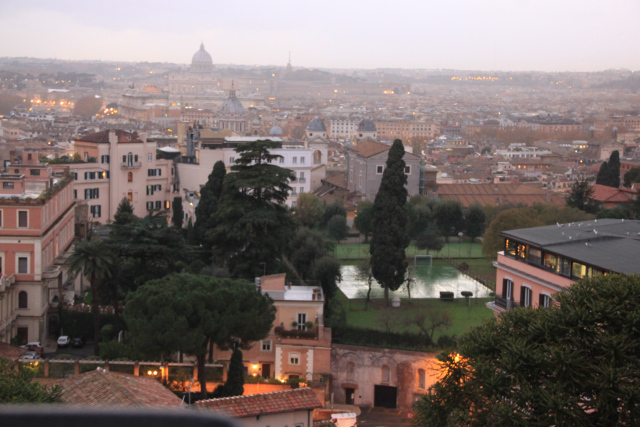 view hill rome italy
