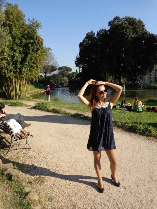 villa torlonia rome italy girl