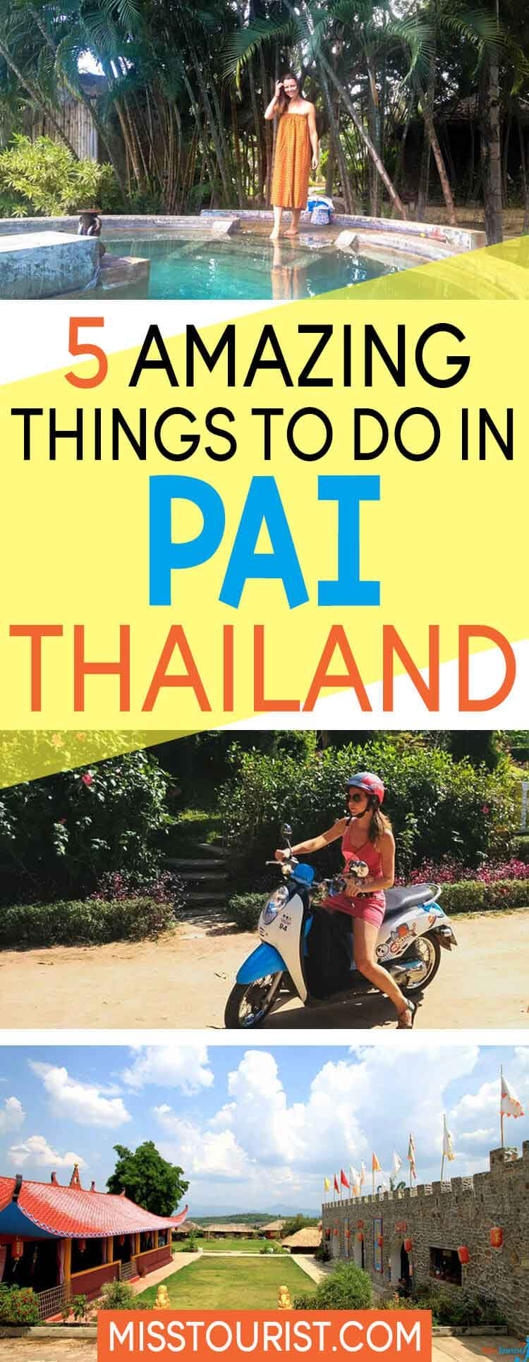 things to do pai thailand