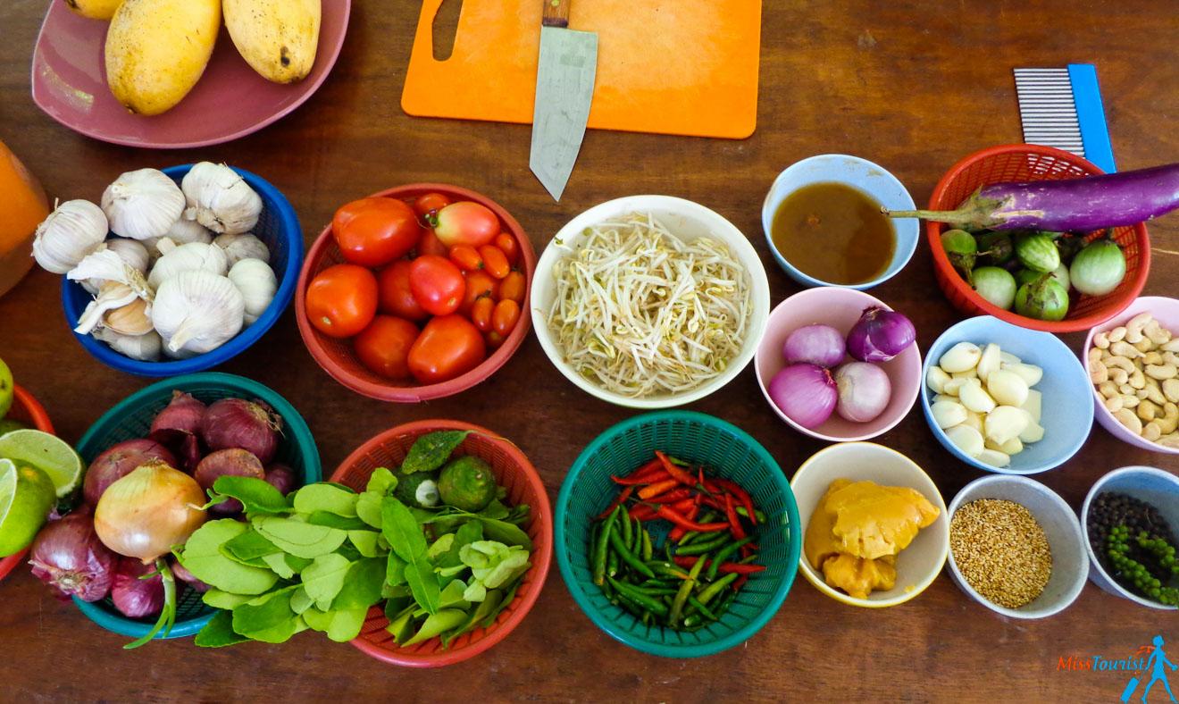 Ingridients cooking thai class