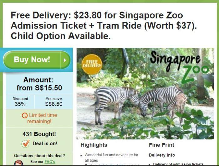 Singapore zoo coupon