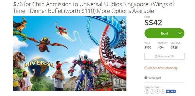Universal Studio Singapore buy cheap tickets