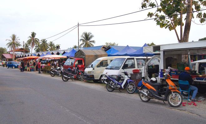 cars on a langkawi street