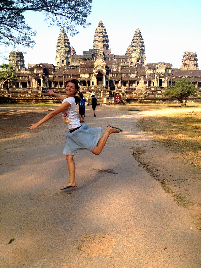 Angkor Wat happiness jump temple