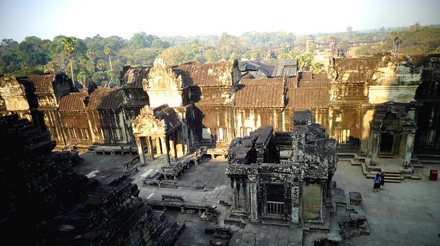Angkor wat temple inside cambodia