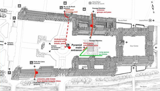 Louvre museum map entrance louvre skip the line
