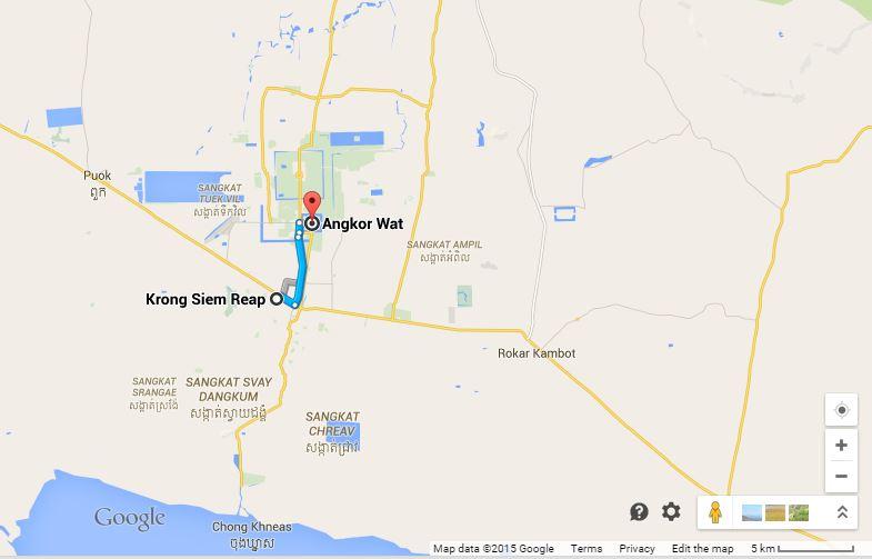 Siem reap to Angkor Wat