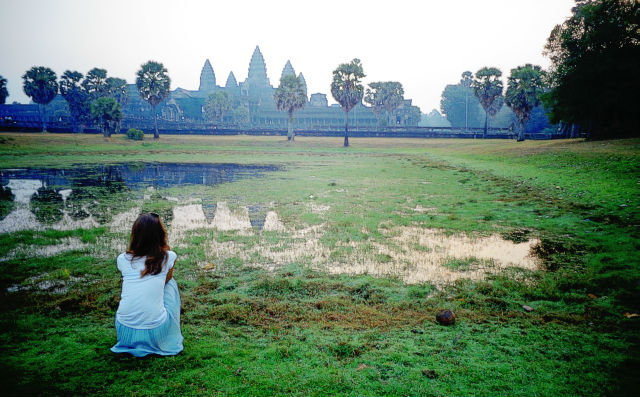 meeting sunrise Angkor wat Cambodia