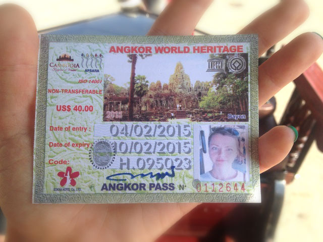name ticket photo Angkor wat