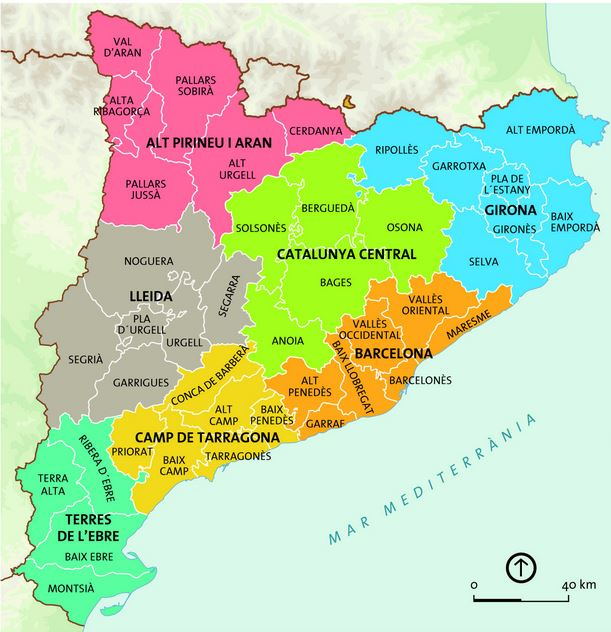 map catalonia region
