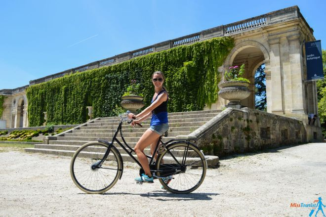 Jardin Pablique bike Bordeaux France