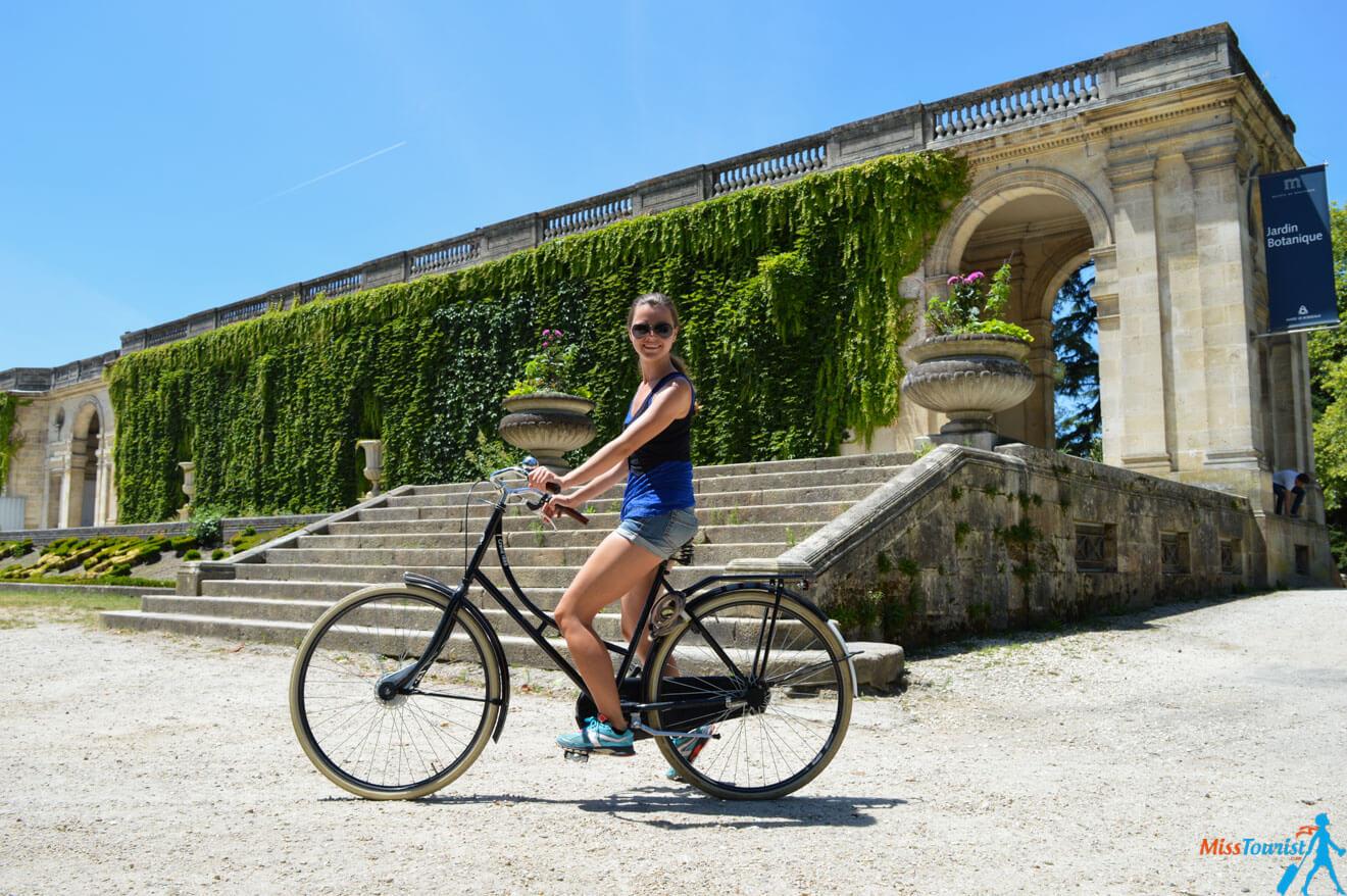 Jardin Pablique bike Bordeaux France
