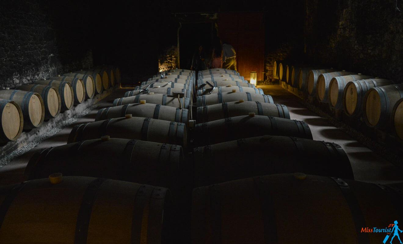 Wine cellars vineyard chateux bordeaux