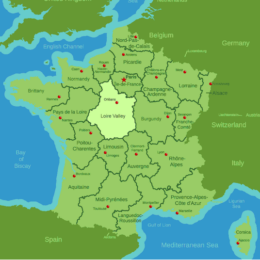 Loire Valley map france