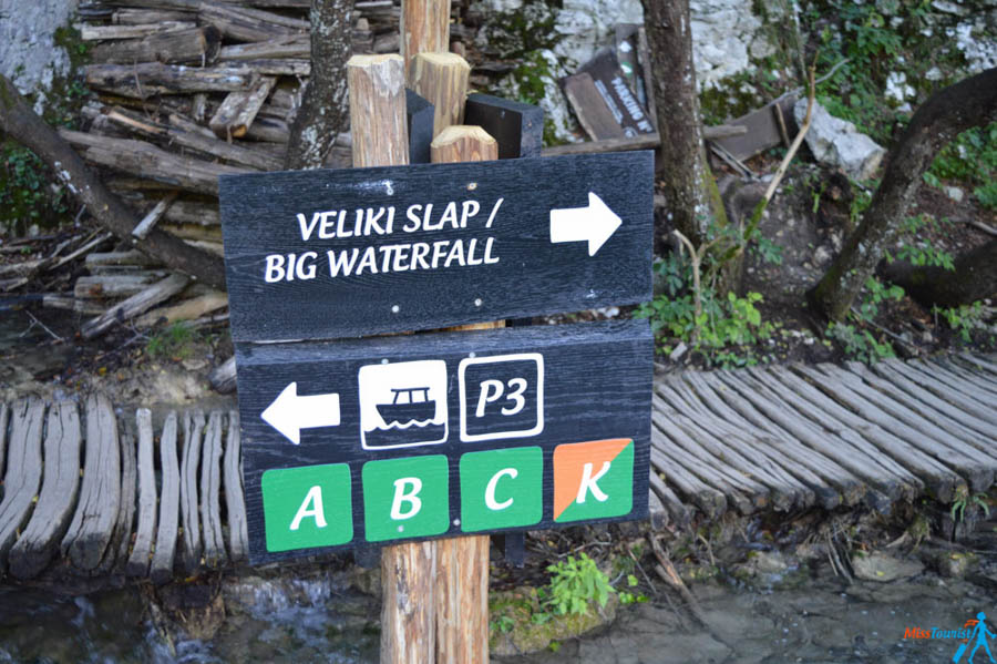 1 Plitvice lakes Big Waterfall sign