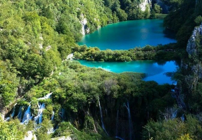 5 Plitvice lakes postcard view2