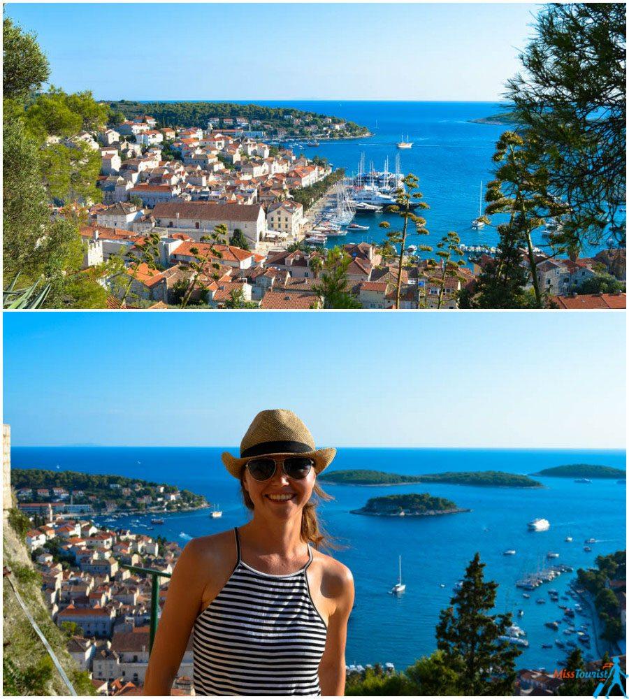 Hvar view to the city