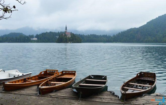 Lake Bled Slovenia boats