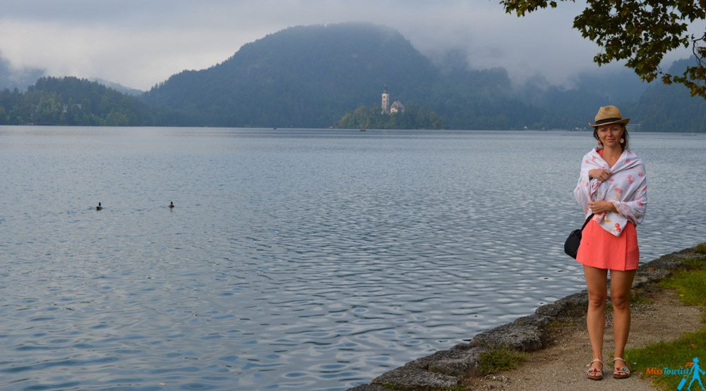 Lake Bled Slovenia rainy weather