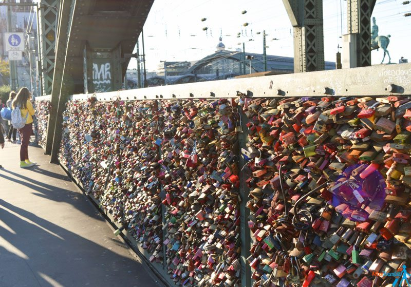 Love locks bridge cologne