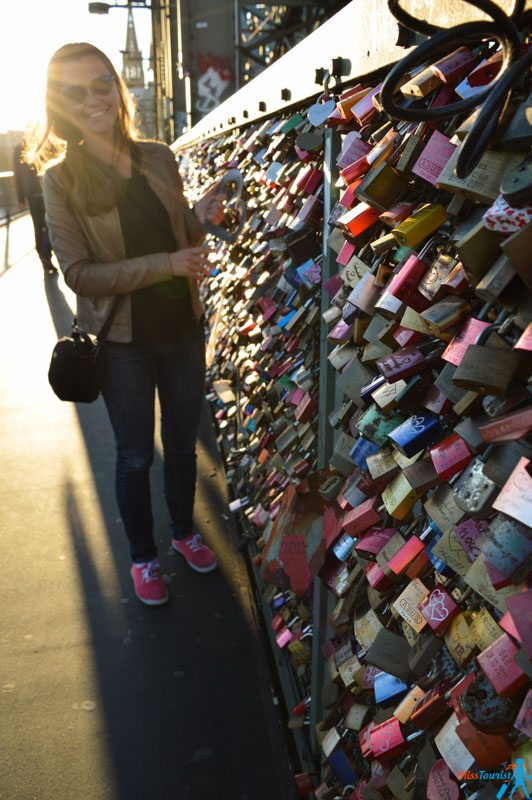 Love locks bridge in cologne