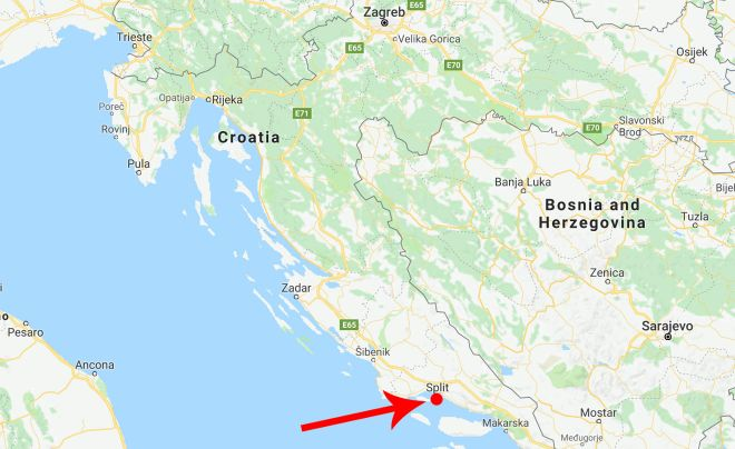Top 10 Things To Do In Split Croatia map
