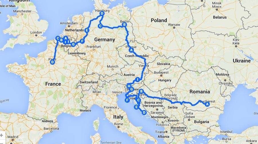 Google Maps Journey Planner >> Interrail/Eurail pass - is it really worth it? | Miss Tourist | Travel Blog