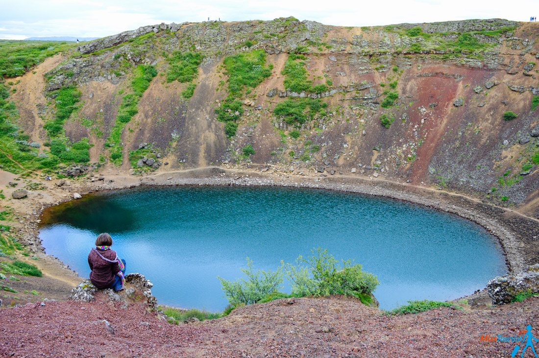2 crater volcano iceland