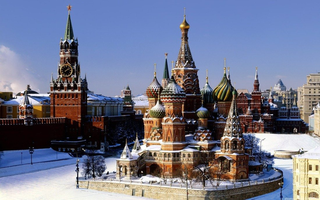 Kremlin russia snow moscow