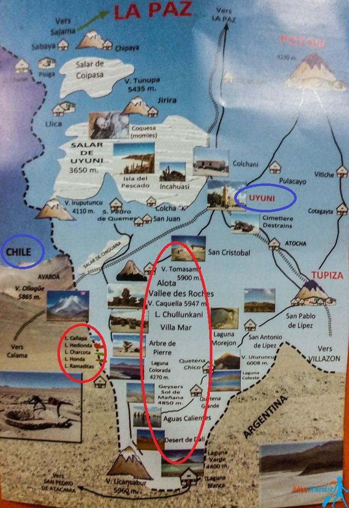 Bolivia Salar de Uyuni Map