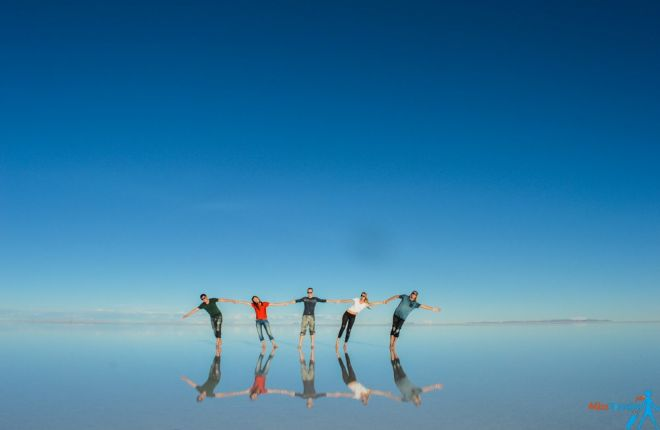 Salt flat group picture