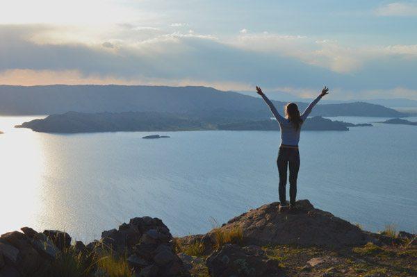 titicaca lake view island