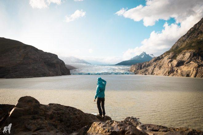 Grey Glacier near Refugio and campamento Grey