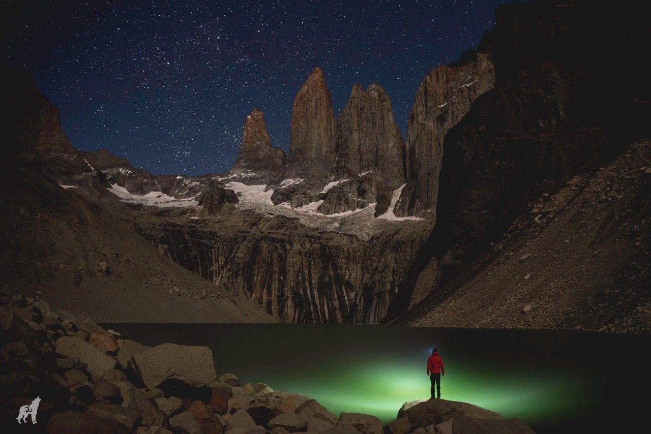 torres del paine night