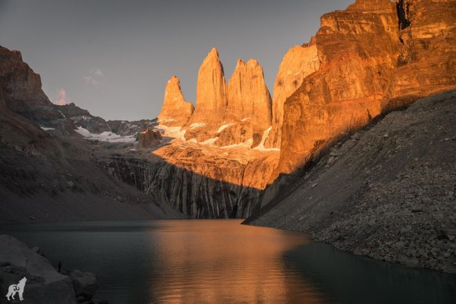 view from Las Torres del Paine