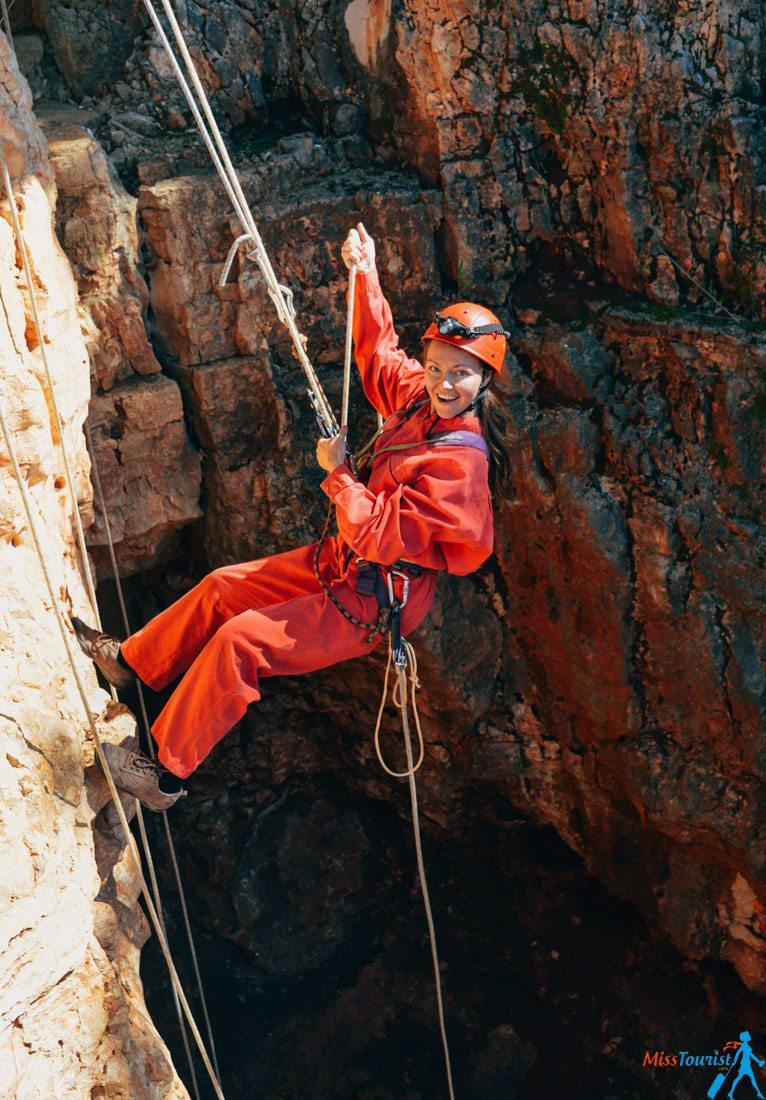 baredine cave rapelling croatia istrian peninsula