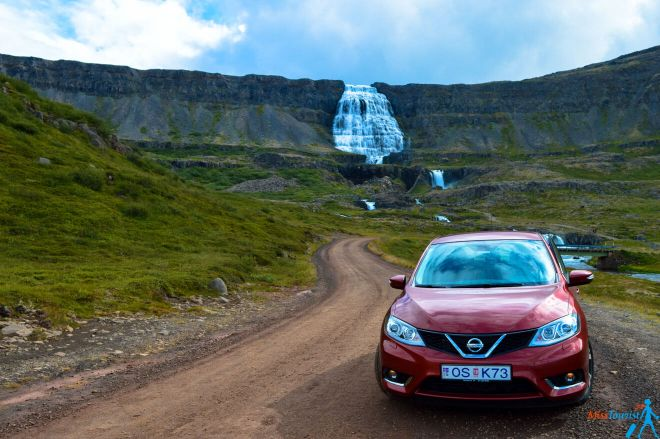 Car waterfall Iceland2