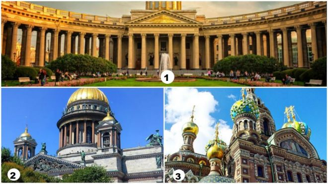 Cathedrals in St Petersburg Russia